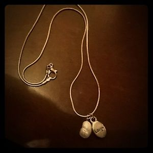 Jewelry - 😄Laugh Charm Pearl & Silver Necklace🐚